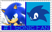 Number 1 Sonic  Fan Stamp by Psychicstar