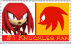 Number 1 Knuckles   Fan Stamp by Psychicstar
