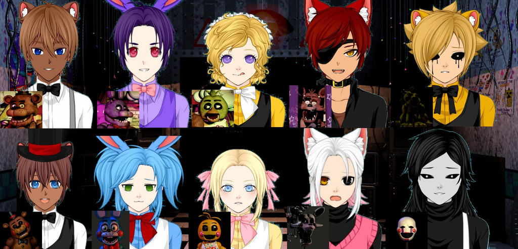 Five Nights At Freddys Characters By N0 OB213