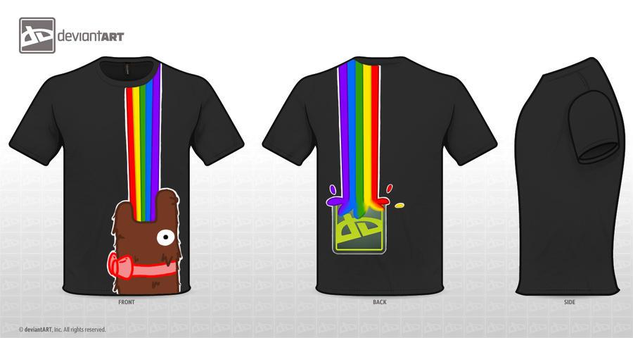 Barfing Rainbow Monster Design Entry by SecretAgentRyuu13
