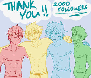 Thank you for 2000 Followers! by Kamden