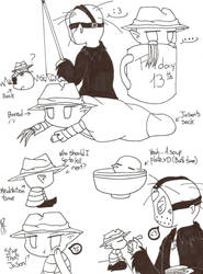 Doodles-Mini Freddy And Jason by TheKitsuneArtist