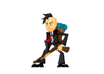 Useful Madness pixel character by MrMadrigal