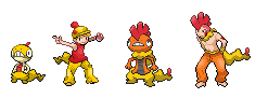 Scraggy and Scrafty Human Sprites by GreenSpiralCat