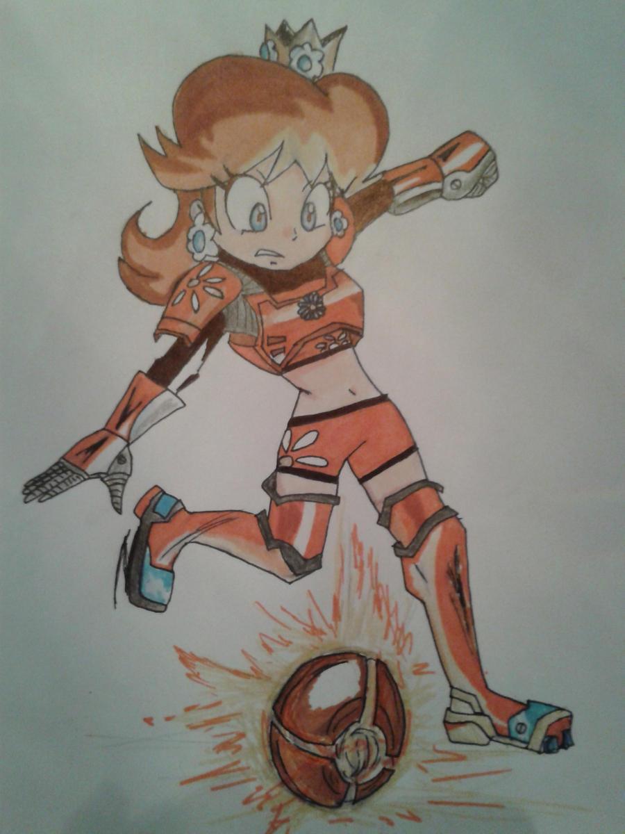 Daisy - mario strikers charged football by FizzyXIII