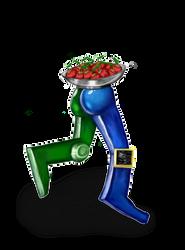 Robot lleva fruta