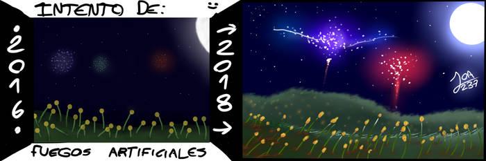 Intento de fuegos artificiales 2016 vs. 2018