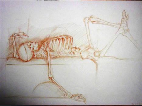 Lying skeleton