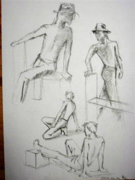 Scetches with hat