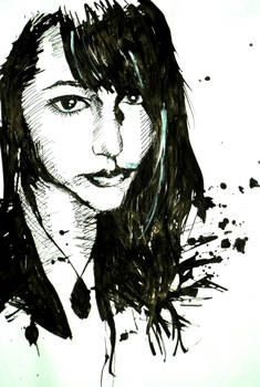 Selfportrait with ink