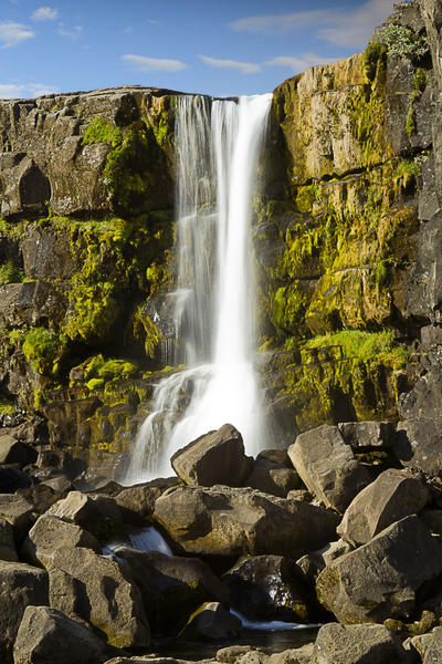 Thingvellir Waterfall by cwaddell