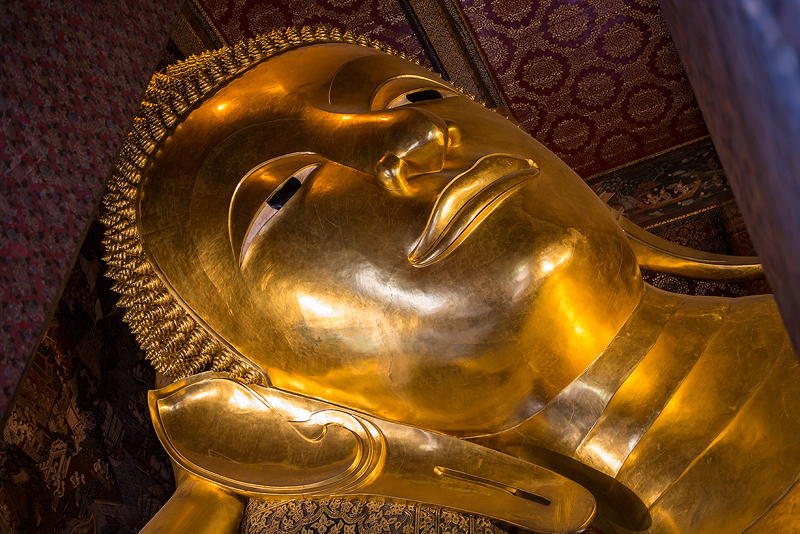 The Reclining Buddha by cwaddell