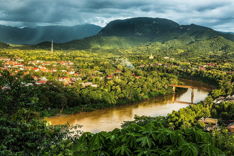 Sunset Over Luang Prabang by cwaddell