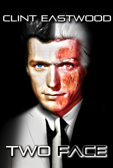 Clint Eastwood is Two-Face by silentscarecrow
