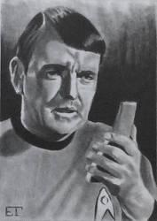 Scotty (James Doohan) Star Trek Sketch Card by avintagedreamer