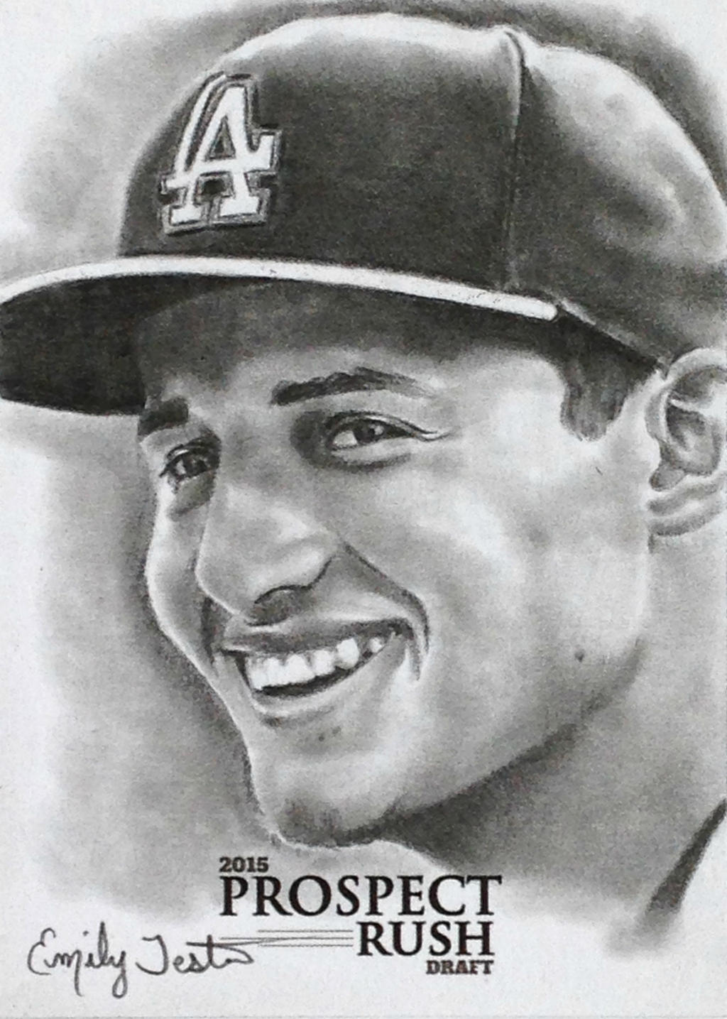 Iphone wallpaper los angeles - Corey Seager Los Angeles Dodgers Sketch Card By
