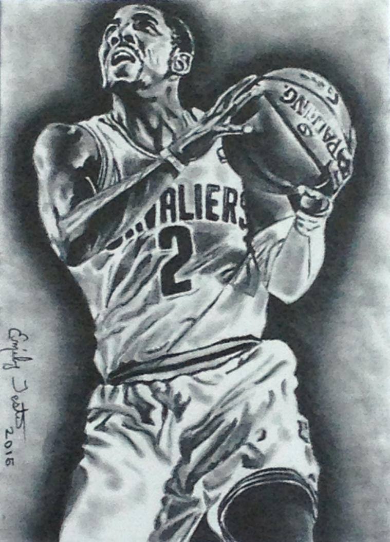 kyrie irving kyrie irving cavaliers nba basketball sketch card by avintagedreamer