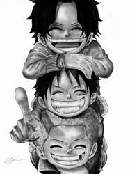 Ace, Sabo, and Luffy (ASL Pirates) - One Piece