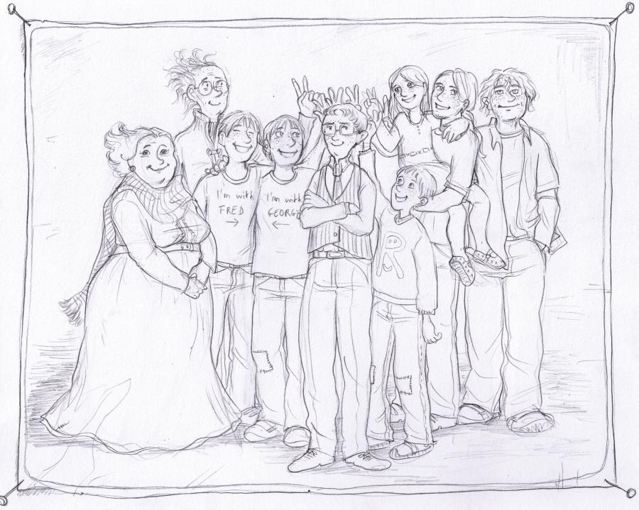 Weasley family portrait by gerre