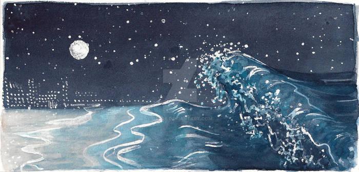 Sea by night