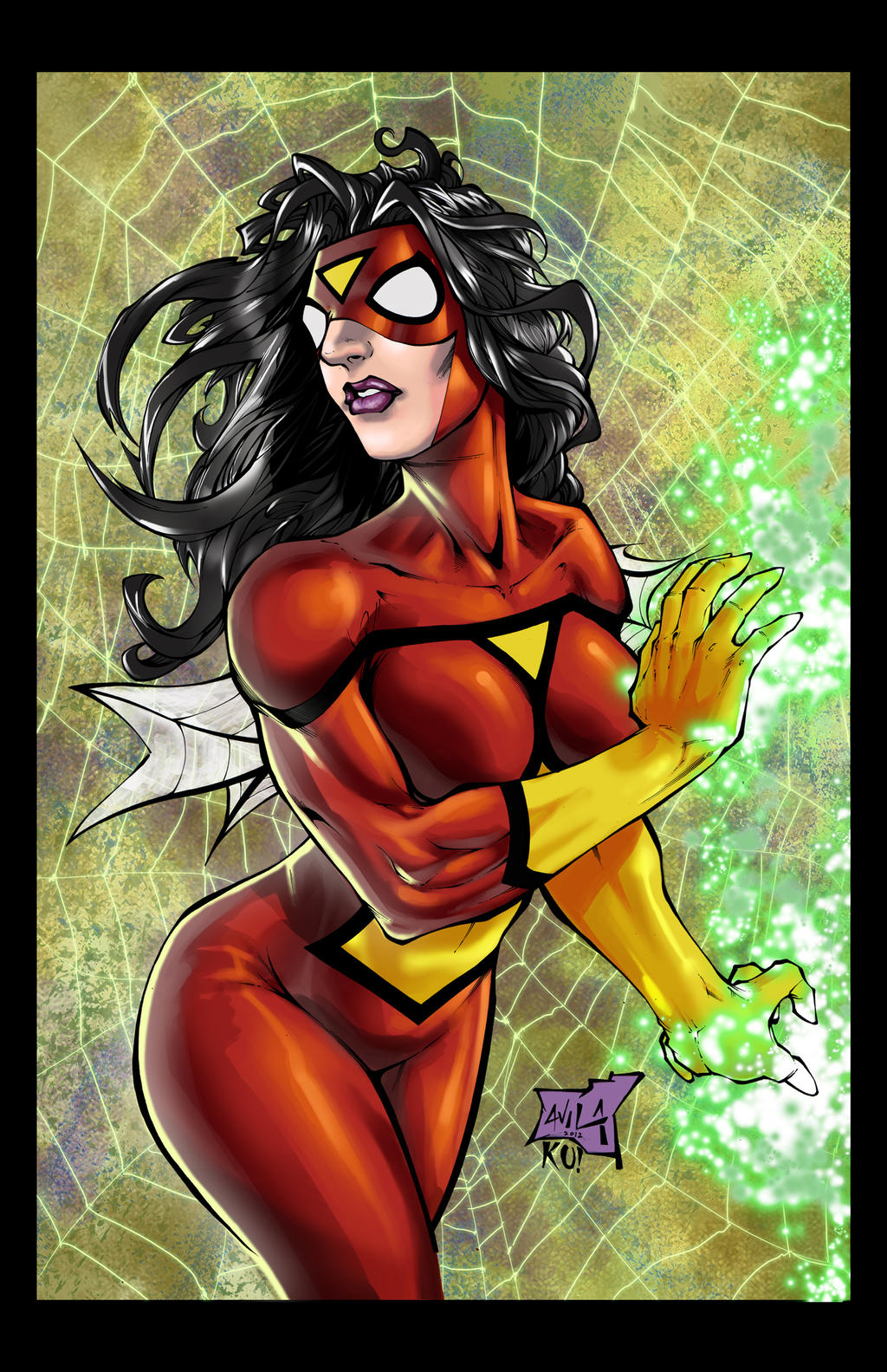 Spiderwoman colored by hanzozuken