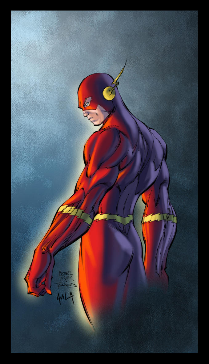 Michael Turner's Flash colored by me by hanzozuken