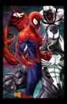Spidey vs Symbiotes colored