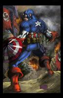 Captain America Colored by hanzozuken