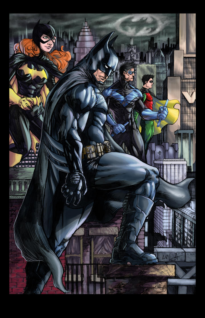 Batman and Co colored by hanzozuken