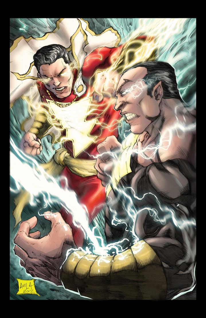 Captain Marvel vs Black Adam colored by hanzozuken on ...