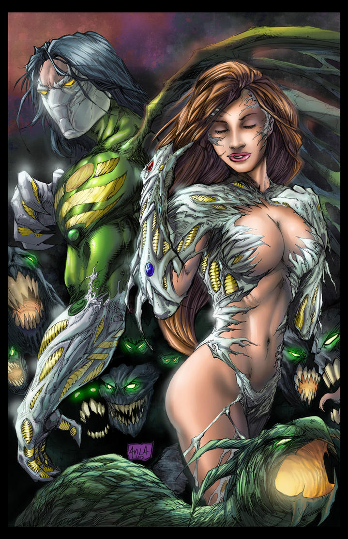 darkness and witchblade colors by hanzozuken