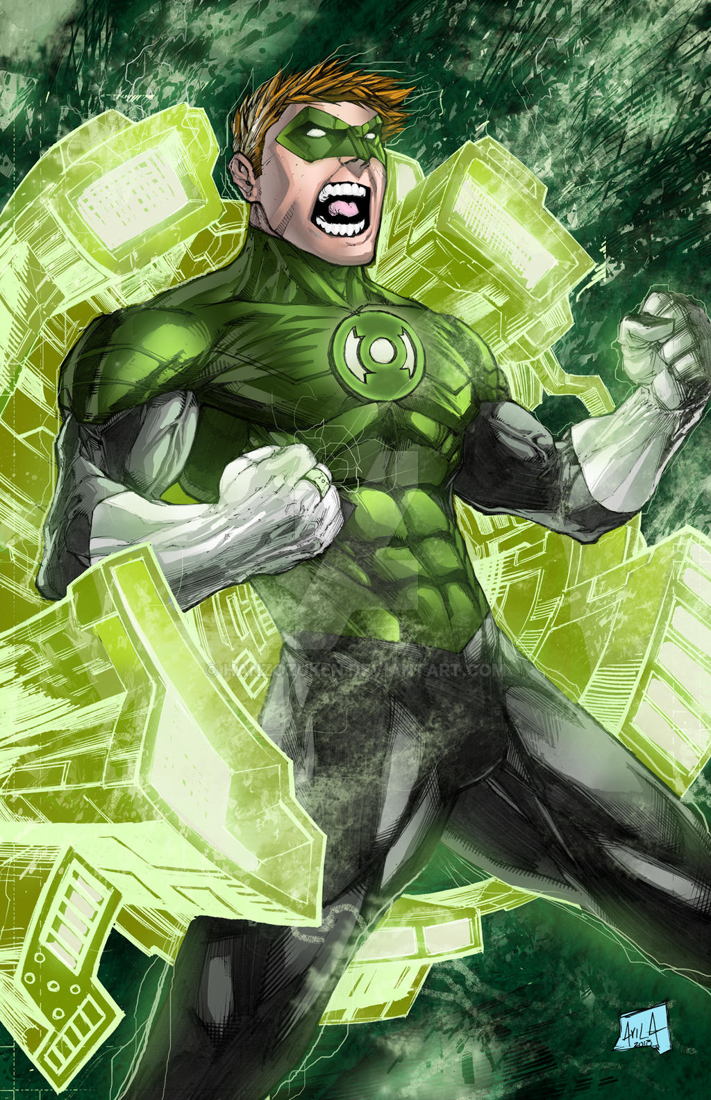 Green lantern 2013 colors by hanzozuken