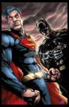 Superman and Batman colors