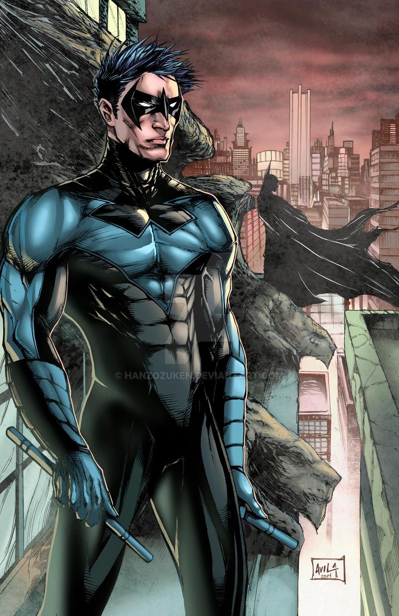 Nightwing 2014 Colors Blue by hanzozuken