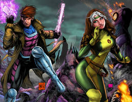 Gambit and Rogue full colors