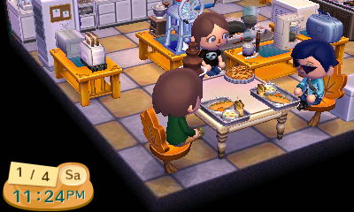 ACNL: Dinner time at Newnan by jayemeraldover9000x