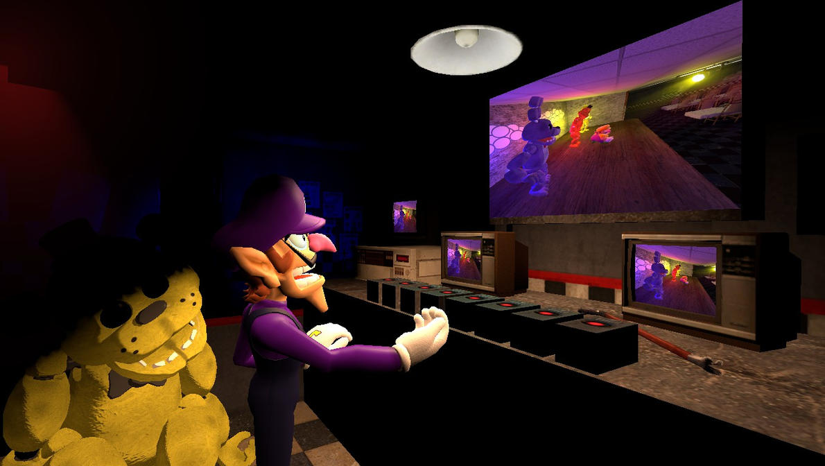 Gmod- Wario Bros. night at Freddy's by jayemeraldover9000x