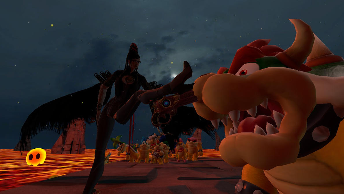 Gmod- Bayonetta and Bowser by jayemeraldover9000x