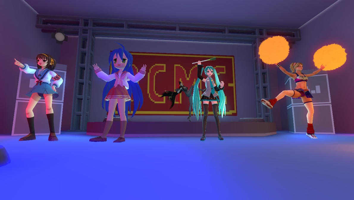 Gmod- Five women on stage by jayemeraldover9000x