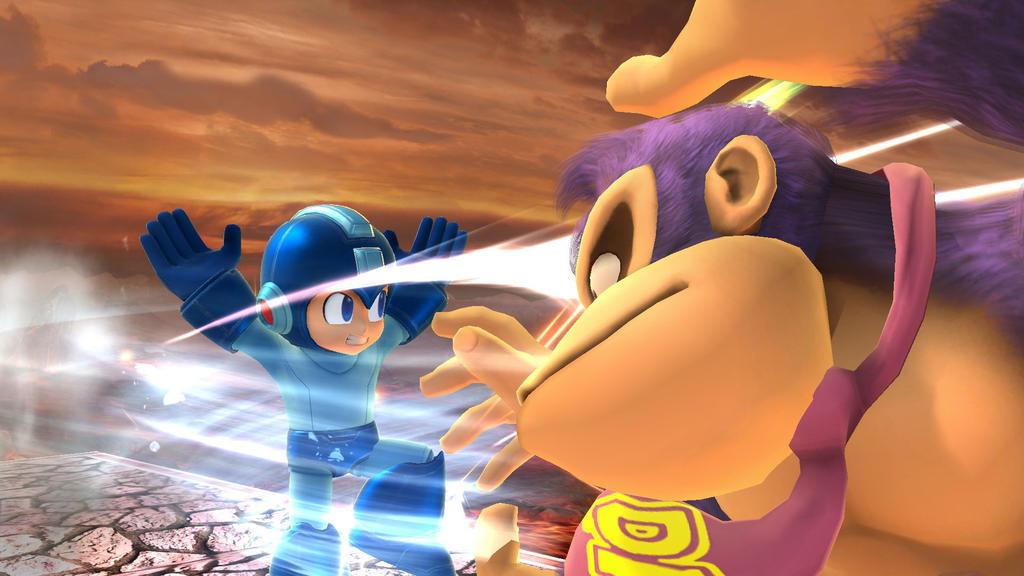 Megaman vs. BonziBuddy Kong by jayemeraldover9000x