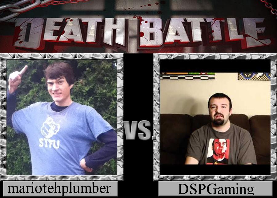 Death Battle mariotehplumber Vs. dspgaming by jayemeraldover9000x