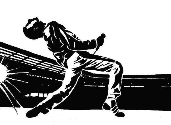 Freddie Mercury at Wembley by JKangaRoux on DeviantArt