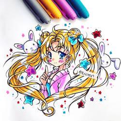 Usagi Tsukino Colored by kiriche