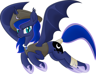 [Princess Luna] Captain of bat's pirates by Kopcap94