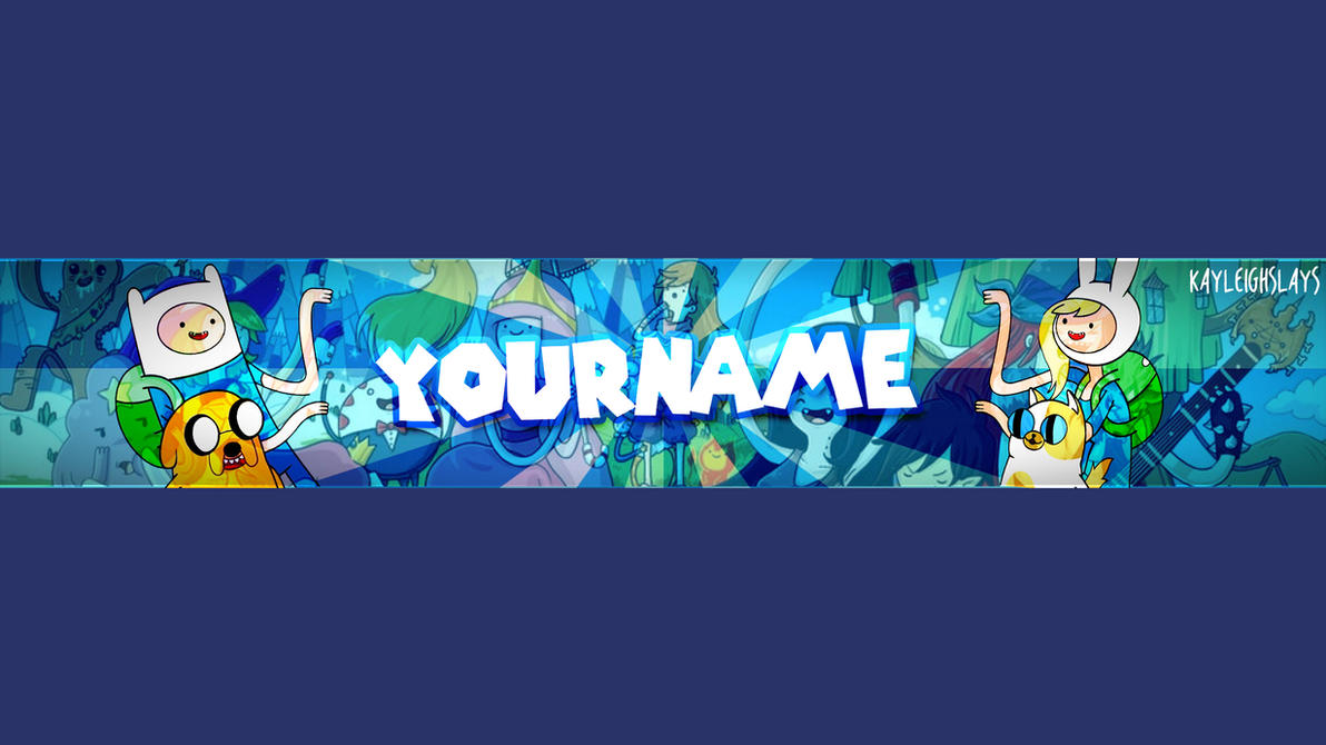 Adventure Time - YouTube Channel Art Template by KayleighSlays on ...