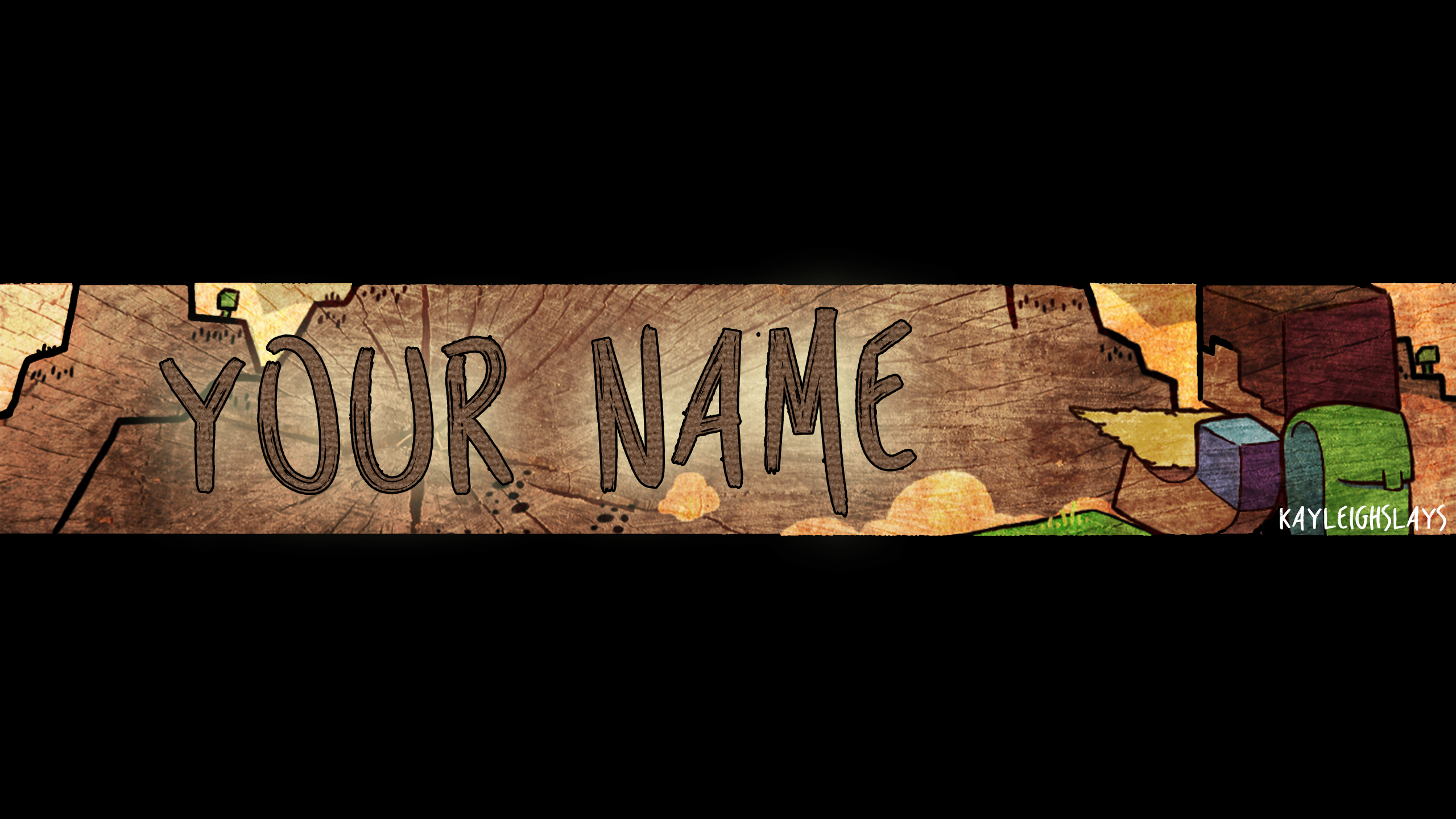 steves adventure youtube channel art template by kayleighslays
