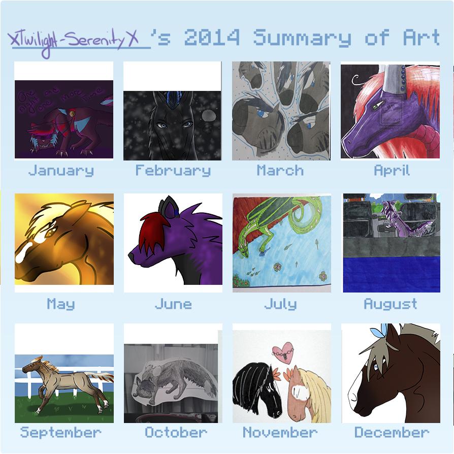 2014 Summary Of Art by XTwilight-SerenityX