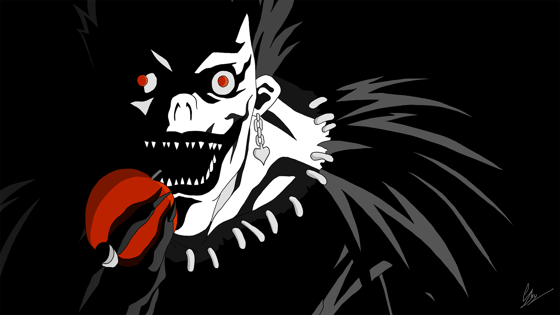 Shinigami Ryuk Apple | www.imgkid.com - The Image Kid Has It!
