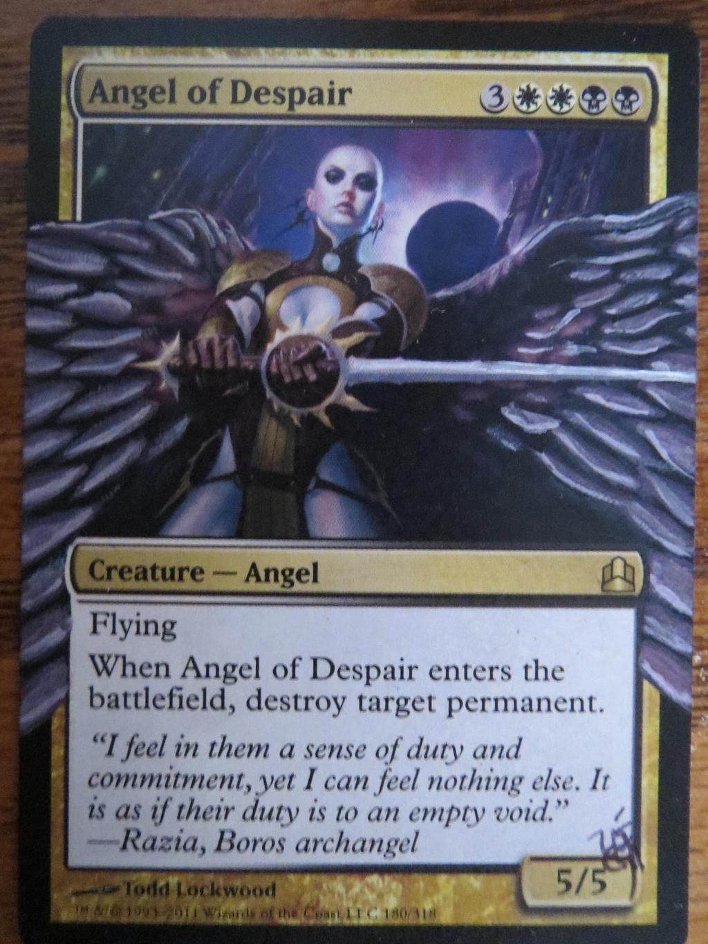 mtg card alter angel of despair by TheArtsA-Z on DeviantArt