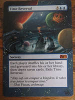 mtg card alter time reversal by TheArtsA-Z